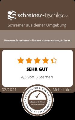 Bernauer Schreinerei - Glaserei - Innenausbau, Andreas Siegel