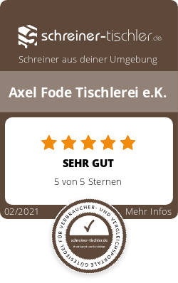 Axel Fode Tischlerei e.K. Siegel
