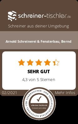 Arnold Schreinerei & Fensterbau, Bernd Siegel