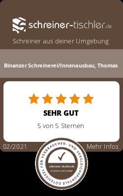 Binanzer Schreinerei/Innenausbau, Thomas Siegel