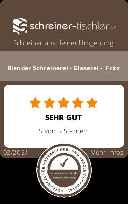 Blender Schreinerei - Glaserei -, Fritz Siegel