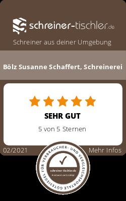 Bölz Susanne Schaffert, Schreinerei Siegel