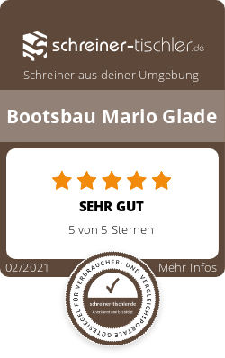 Bootsbau Mario Glade Siegel