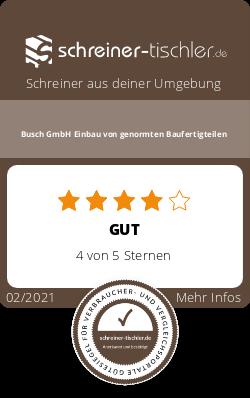 Busch GmbH Einbau von genormten Baufertigteilen Siegel