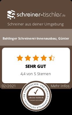 Bahlinger Schreinerei-Innenausbau, Günter Siegel