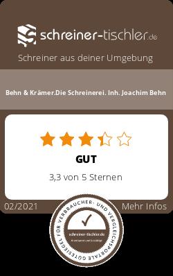 Behn & Krämer.Die Schreinerei. Inh. Joachim Behn Siegel