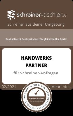 Bautischlerei Denkmalschutz Siegfried Hadler GmbH Siegel