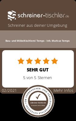 Bau- und Möbeltischlerei Temps - Inh. Markus Temps Siegel