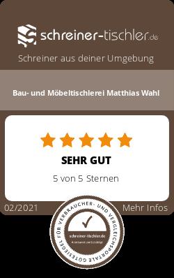 Bau- und Möbeltischlerei Matthias Wahl Siegel